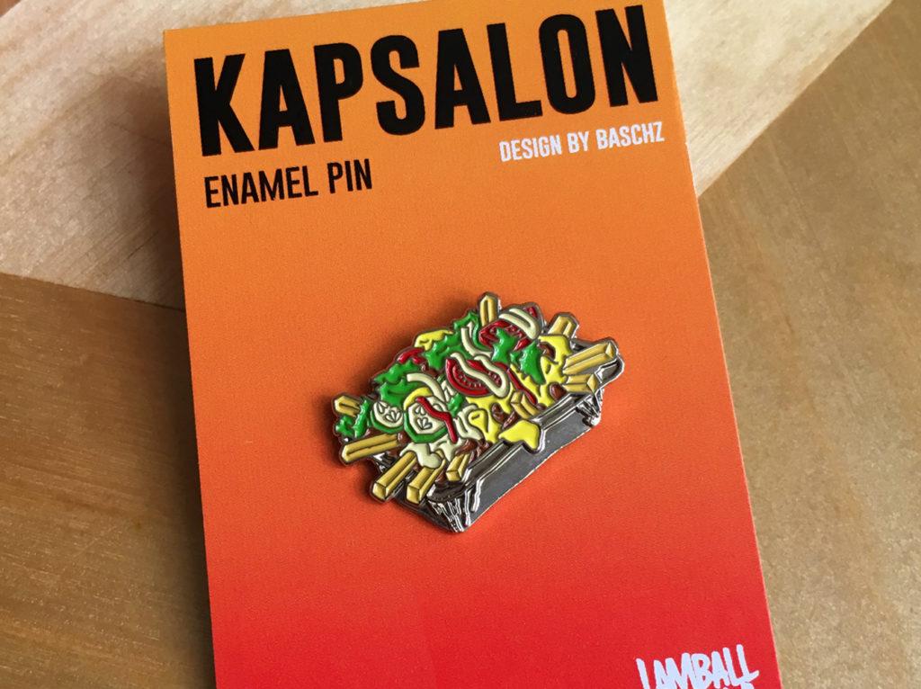 Kapsalon Enamel Pin by Baschz Leeft